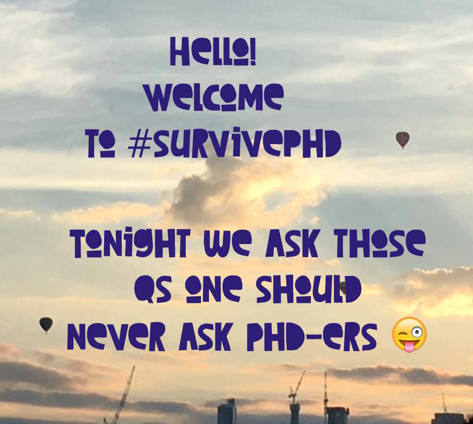 Thumbnail for Questions one should never ask a #PhD #survivephd chat