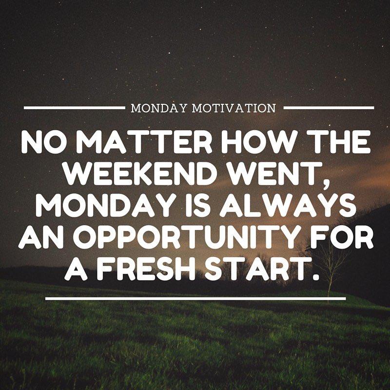 "Monday Motivation on Twitter: ""Fresh Start... # ..."