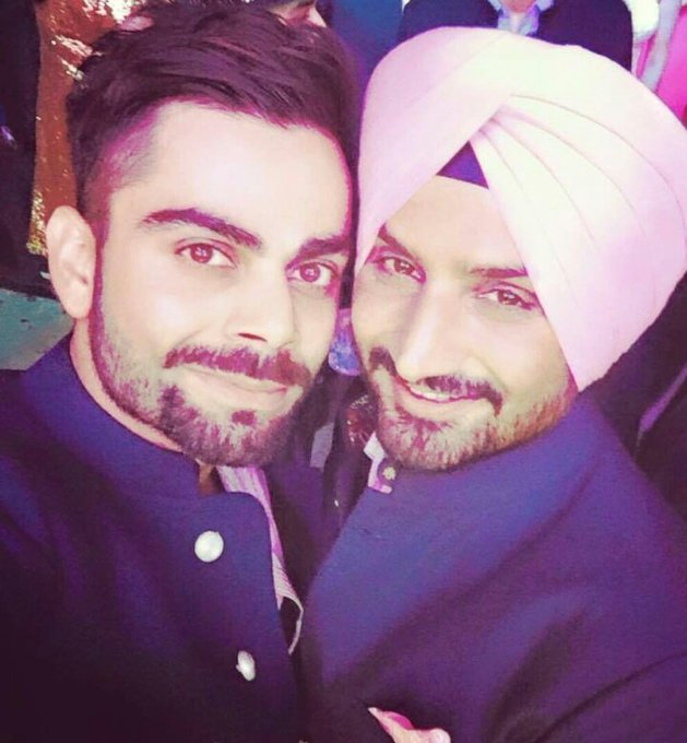 Virat_Official wishes a very Happy Birthday to harbhajan_singh on behalf of imVkohli & all our