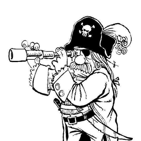 Пираты картинка для срисовки