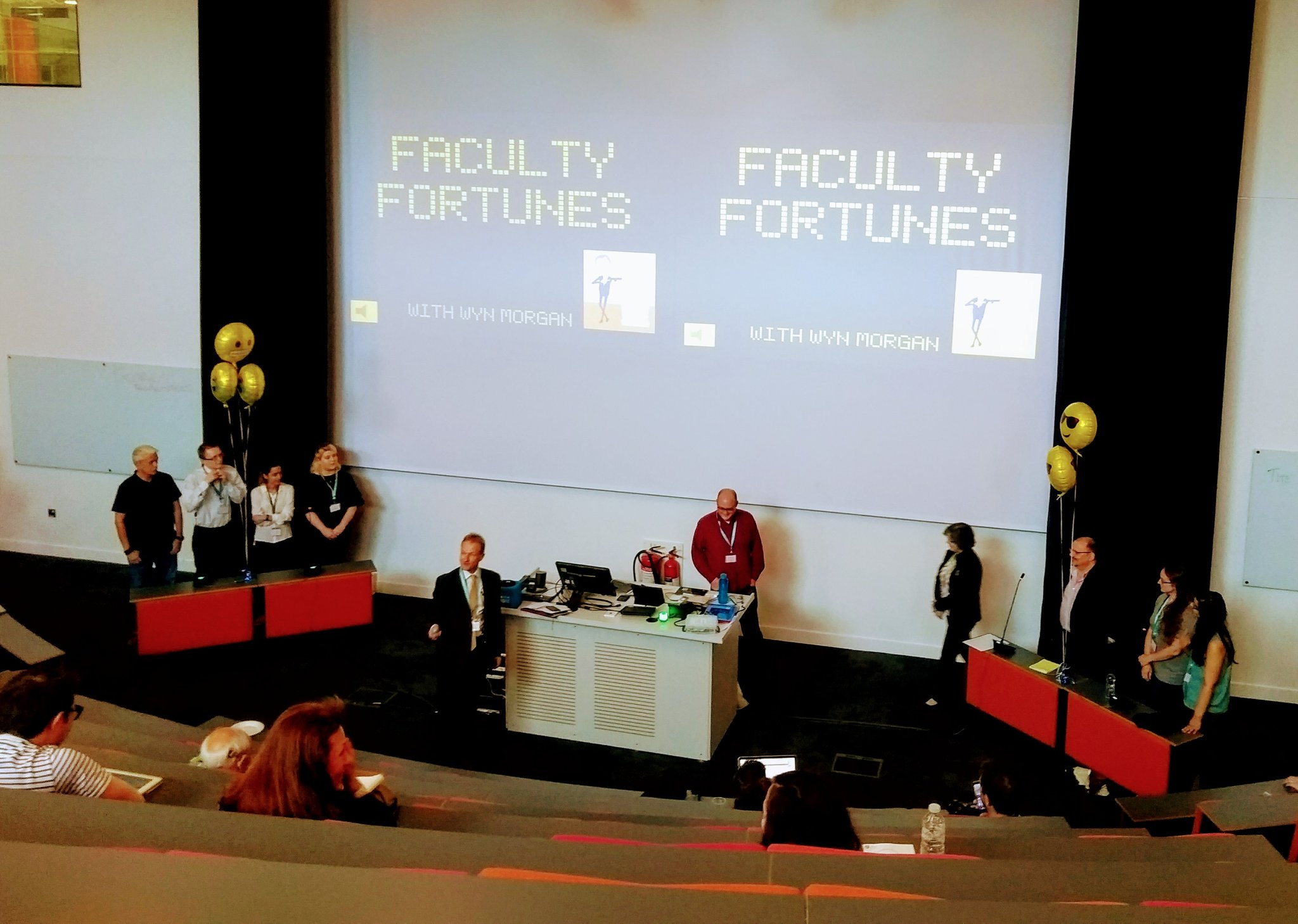 It's Faculty Fortunes time and host @WynMorgan8 (Les Dennis) explains the rules for those who didn't experience the original! #TELFest https://t.co/8bvD7cNKur