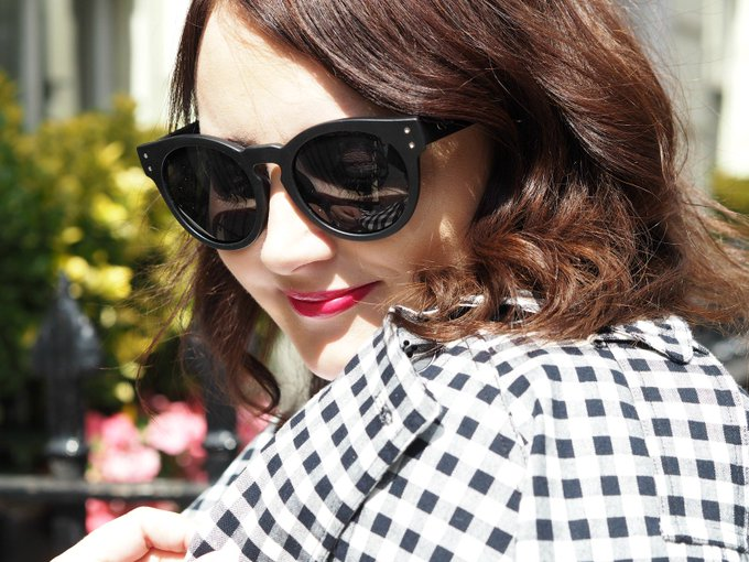 OOTD: Dressing Down A Dressy Skirt (Pink Lace, A Mini Suitcase & A Splash Of Gingham)