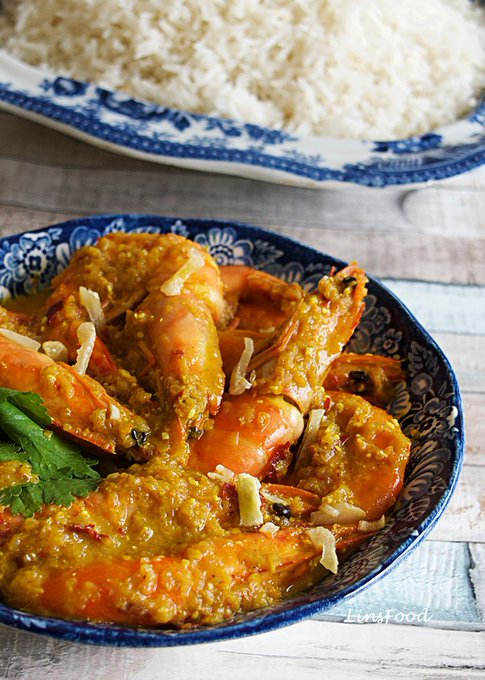 Prawn Sambal Bostador, a Eurasian Recipe from Singapore and Malaysia