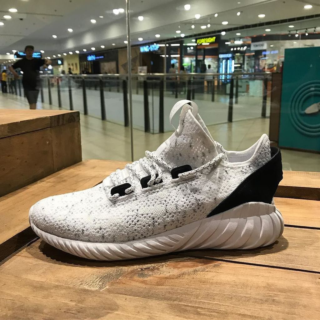 Take A Look At The adidas Tubular Doom Soc Primeknit Sesame