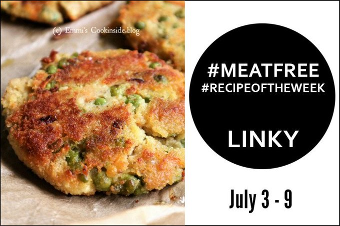 Red Lentil Schnitzels + Link Up Your #MeatFree #RecipeoftheWeek June 3 – July 9 -