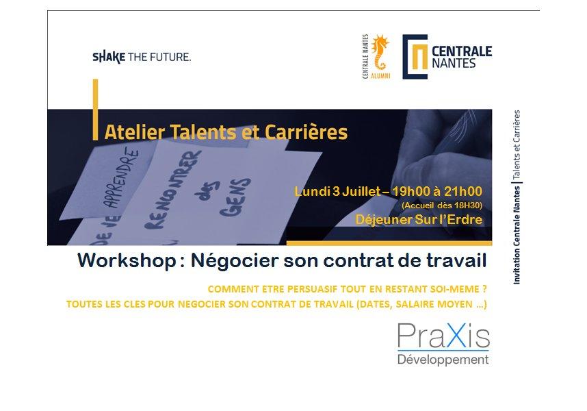 Centrale Nantes On Twitter Negocier Son Contrat De Travail H 1