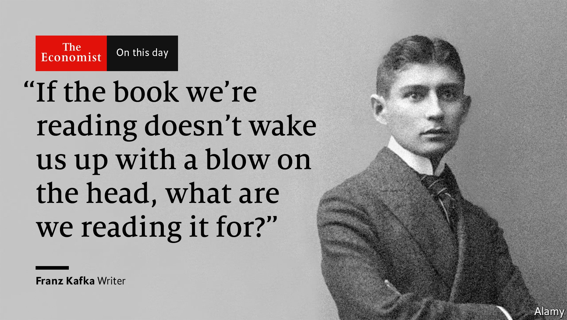 Franz Kafka was born #OnThisDay 1883. He depicted the world as he saw it, full of lonely and persecuted individuals https://t.co/WTJ93I04eK https://t.co/HhlyPMFvJG