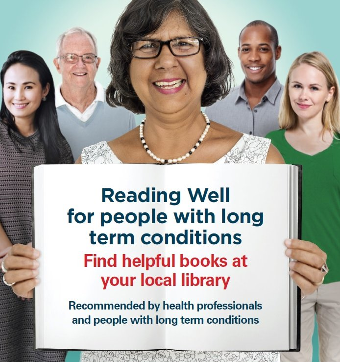 We're excited for the launch of #ReadingWell for long term conditions today. Books really are the best medicine! https://t.co/MDTu6BS2di https://t.co/jVTBo7k34y