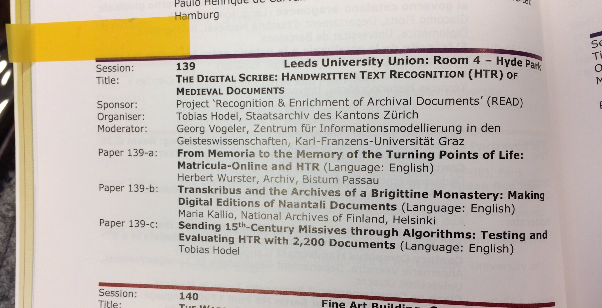 Gearing up for my 1st session of #imc2017 - looking forward to #s139 on 'The Digital Scribe' https://t.co/YXmMlZE8Wa