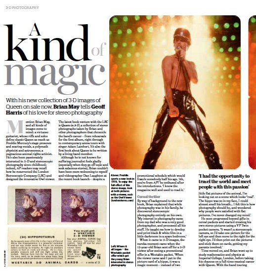 A great 4 page feature on #Queenin3D in the new issue of @AP_Magazine. Order now @ https://t.co/1MCXD2Vk41 https://t.co/HURnXKMJVY