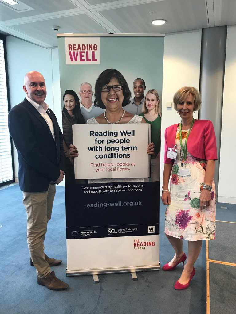 @wellcometrust awaiting all our partners for launch #readingwell. @UKSCL @readingagency all lined up. https://t.co/fYB4Uq0Q6y