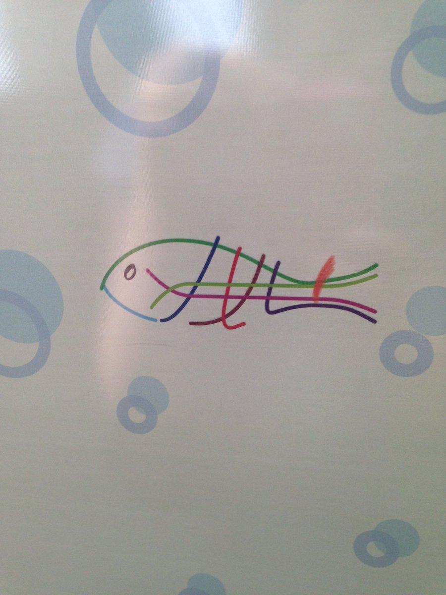 大阪市営地下鉄のドアに描かれている魚をぼんやりと眺めていて気づいたんですけど、えっ、この魚、路線図を模している!! pic.twitter.com/lt7Gcgjxy8