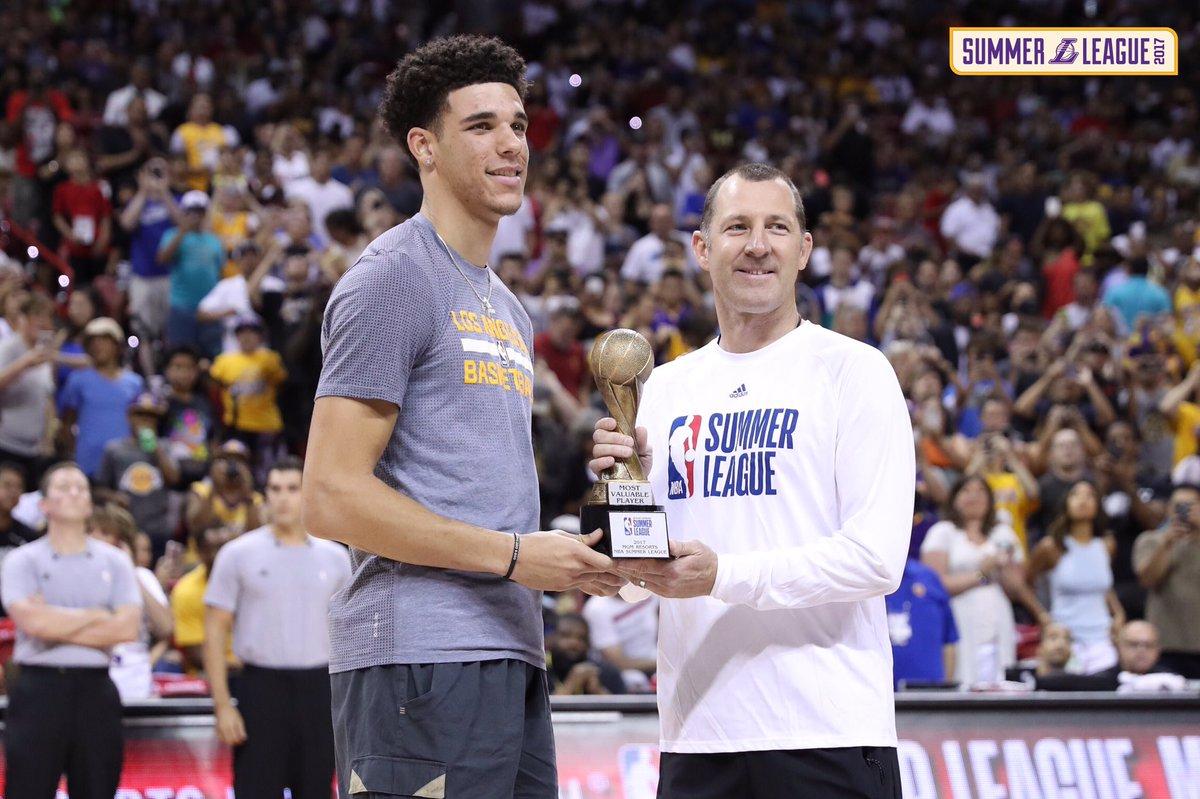 🏆 @ZO2_ gets his MVP hardware #LakersSummer