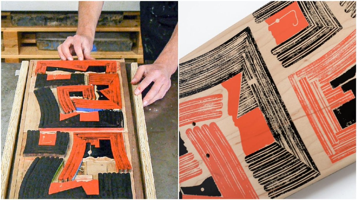 Old skateboards find new life as #woodblock #prints:  http:// bit.ly/2uiyTaa  &nbsp;   via @CreatorsProject<br>http://pic.twitter.com/A7chz8VUkY