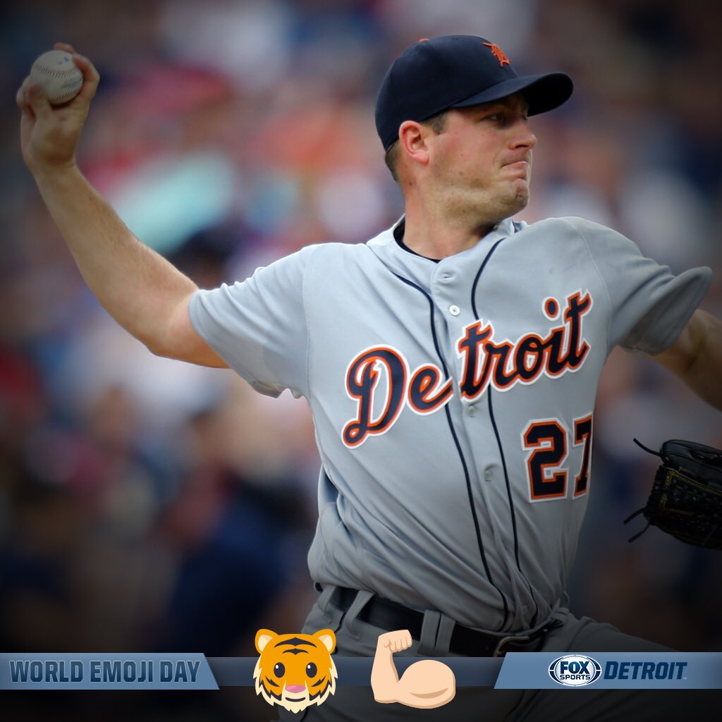 We've got @JZimmermann27 on the mound in KC! This Tigers Arm is ready to feast! Happy #WorldEmojiDay! Tigers LIVE coming @ 7! 🐯⚾️⏰