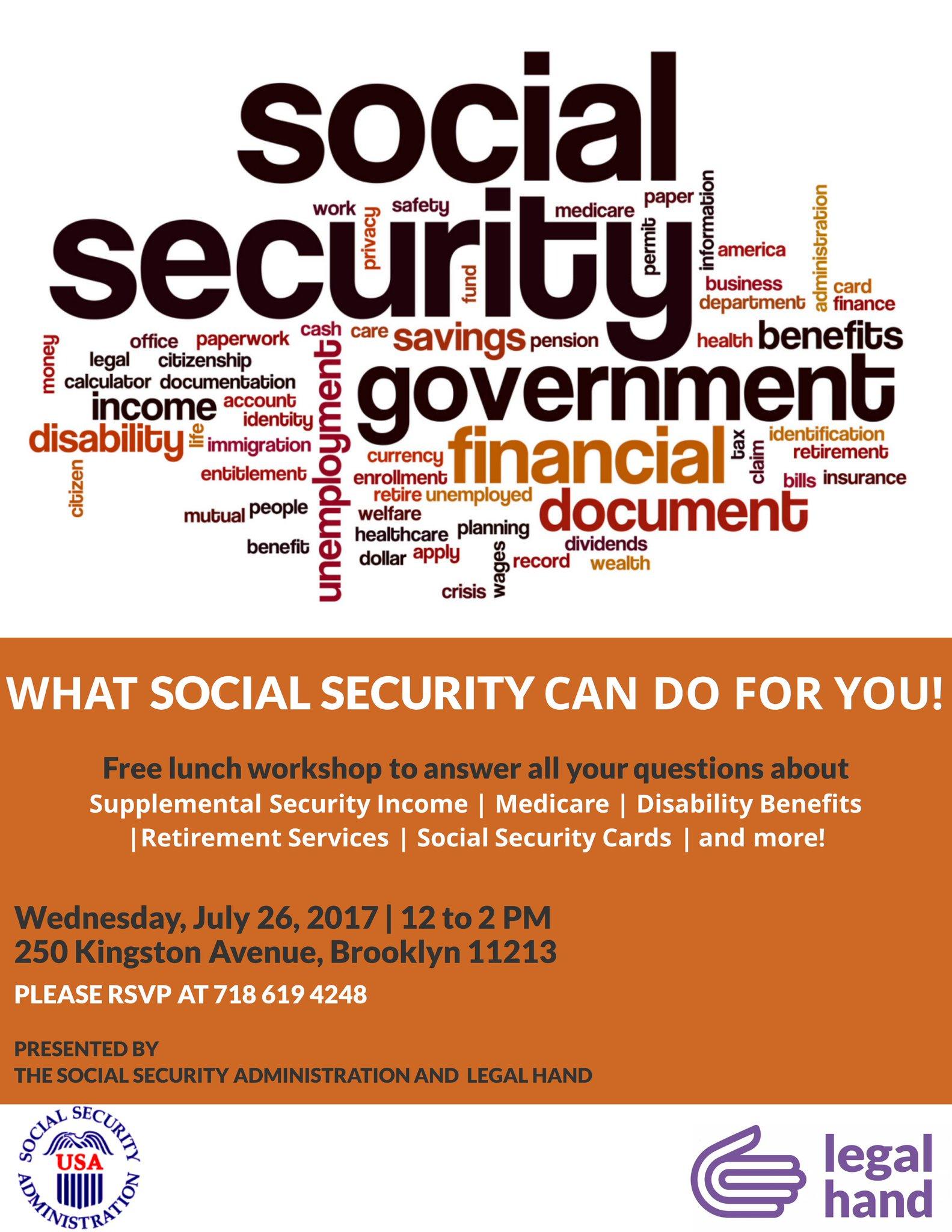 SOS Brooklyn on Twitter Free Social Security Workshop to
