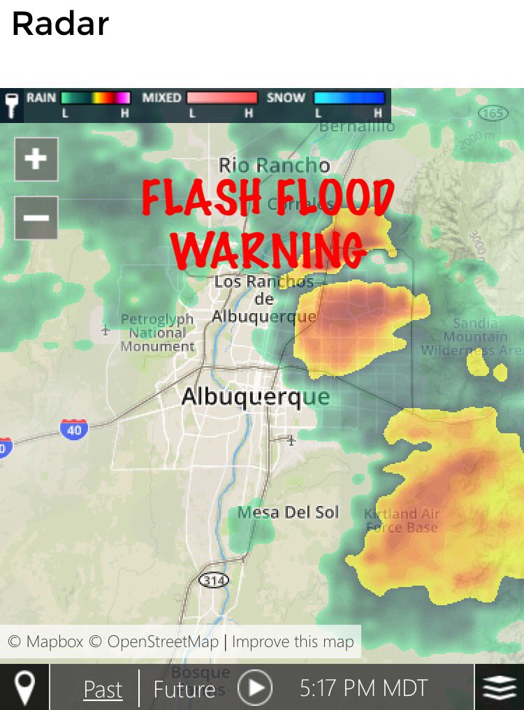 #FLASH #FLOOD #WARNING #ABQ Stay away from arroyos!  http://www. koat.com/weather/radar  &nbsp;   #NMwx #NewMexico #Severe #Weather<br>http://pic.twitter.com/3nzw65hpYb