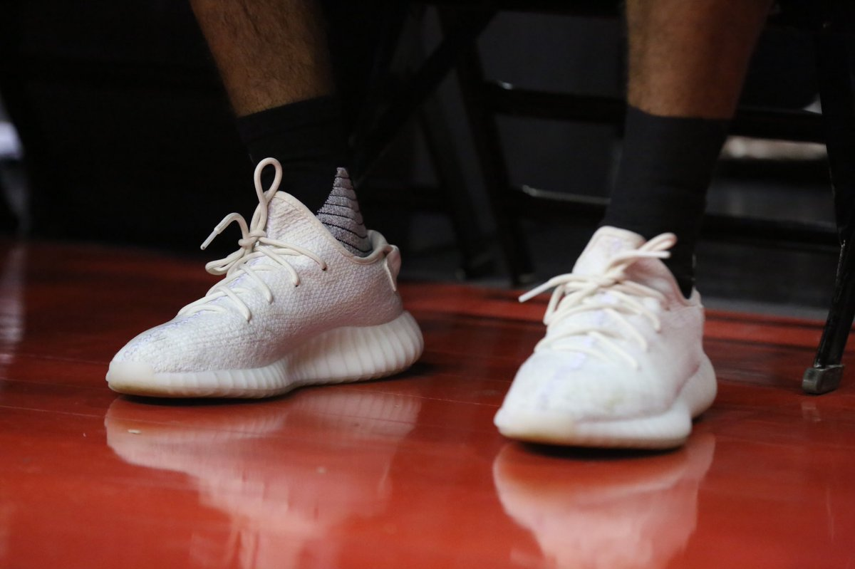cream yeezys on feet Kings Kicks