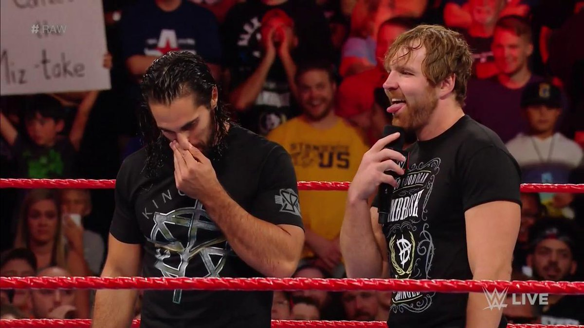 Believe it or not, @WWERollins just APOLOGIZED for dismantling #TheShield over three years ago... #RAW