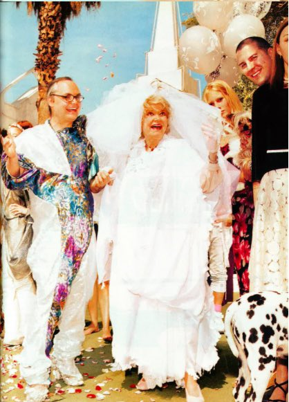 That time I married Phyllis Diller in a Las Vegas drive-thru wedding chapel for @papermagazine ❤️