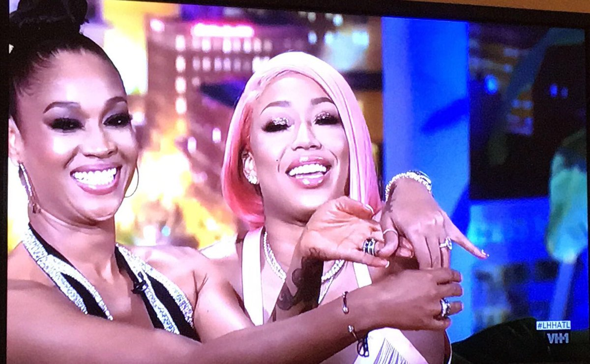 I'm like Mimi when something good happens to my friend it's happening to me too😂😂 #LHHATL