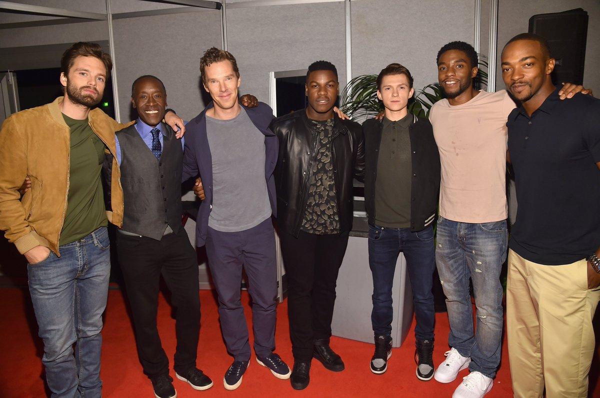 "marvelaunz on twitter: ""the cast of avengers: infinity war backstage"