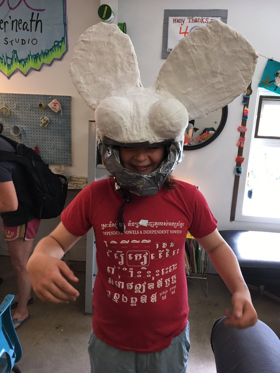 #dangermau5 #mask now ready for #pride #pridehalifax #plasterbandage #ducttape #persistence #openstudio #kidsmaking <br>http://pic.twitter.com/cvi50wFHRk