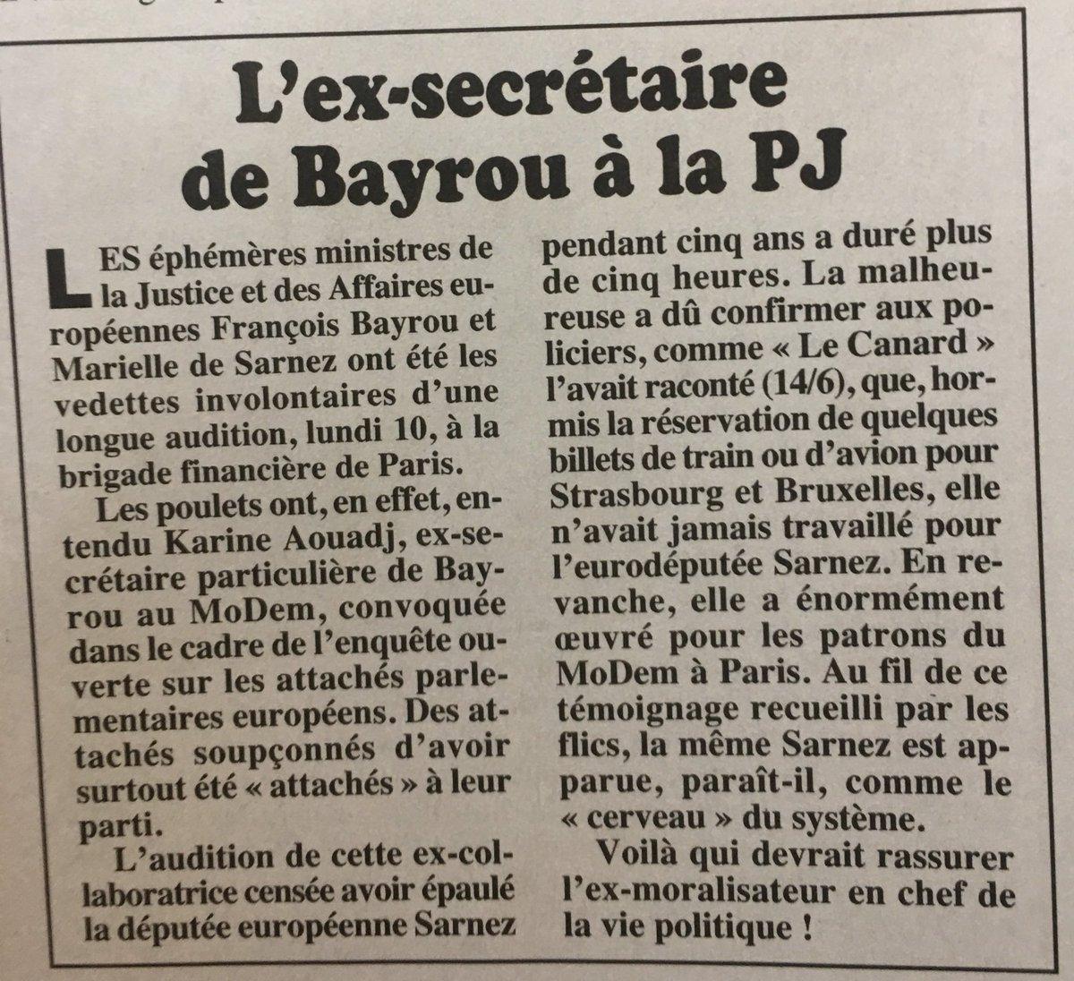 Des nouvelles de notre ÉPHÉMÈRE ministre de la moralisation publique : François @Bayrou. Un bel exemple de la République en Marche