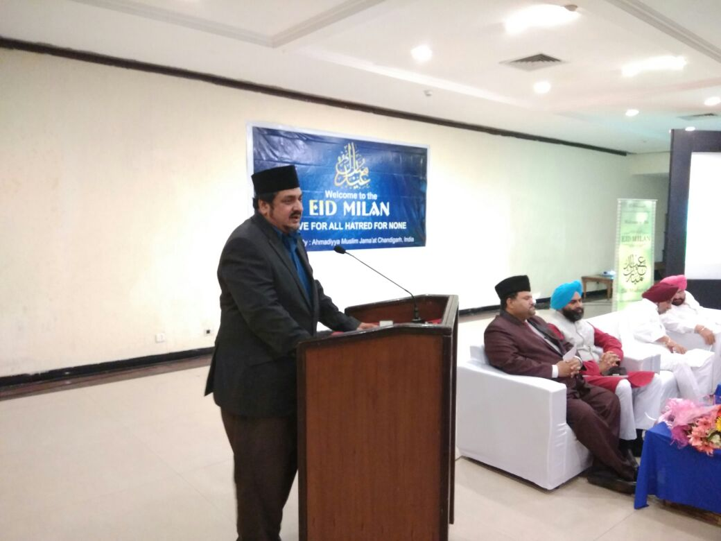 Shiraz Ahmed Sb. Add. Executive Director #AMJ &amp; Fazl Rehman Bhatti Sec. Internal affairs #AMJ speaking @ #EidMilan Chandigarh <br>http://pic.twitter.com/ihXWxLAfox