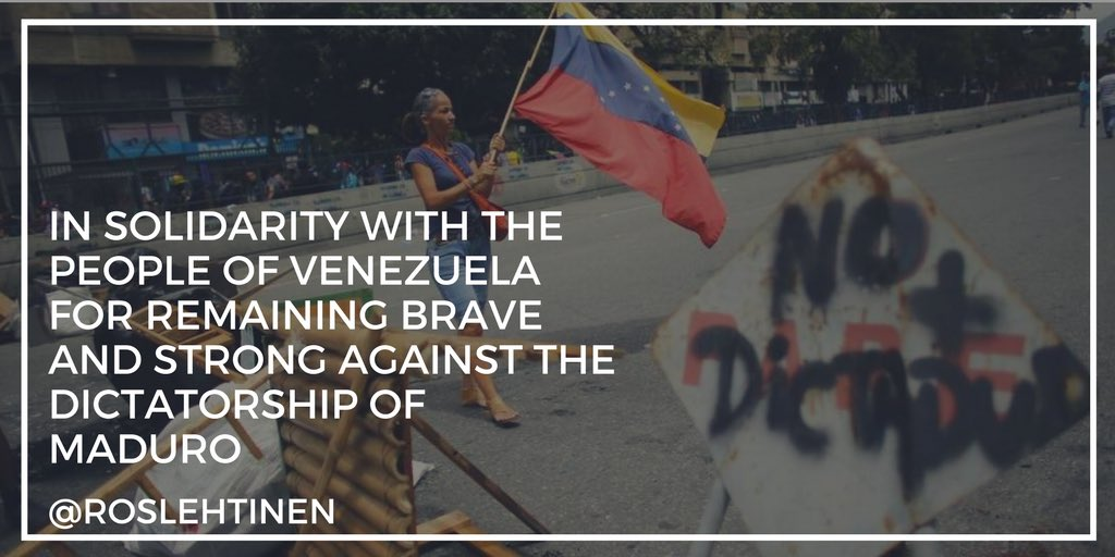 In solidarity with the people of #Venezuela for remaining brave and strong against the dictatorship of #Maduro #16J