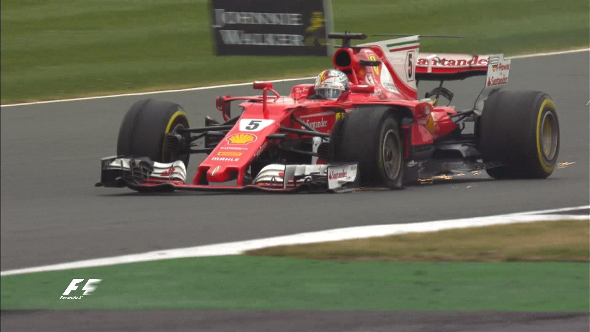 Vettel perdía el podio tras su pinhazo en la última vuelta