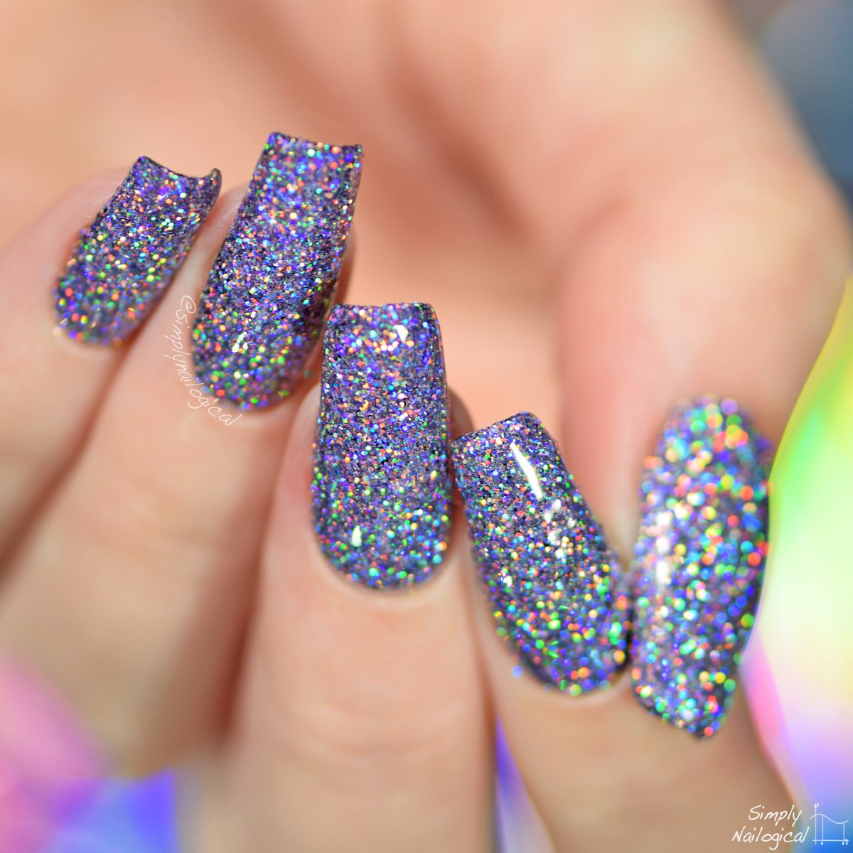 Simply Nailogical Cristine On Twitter Brace Yourselves It S A Photo Of My Nails Using The Spray H L Glitter I Played With In Latest Video