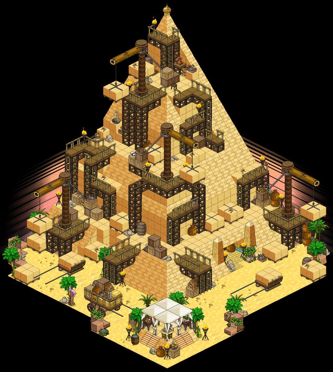Alphadesign On Twitter Pyramid Buildside C Createhabbo Weebznl