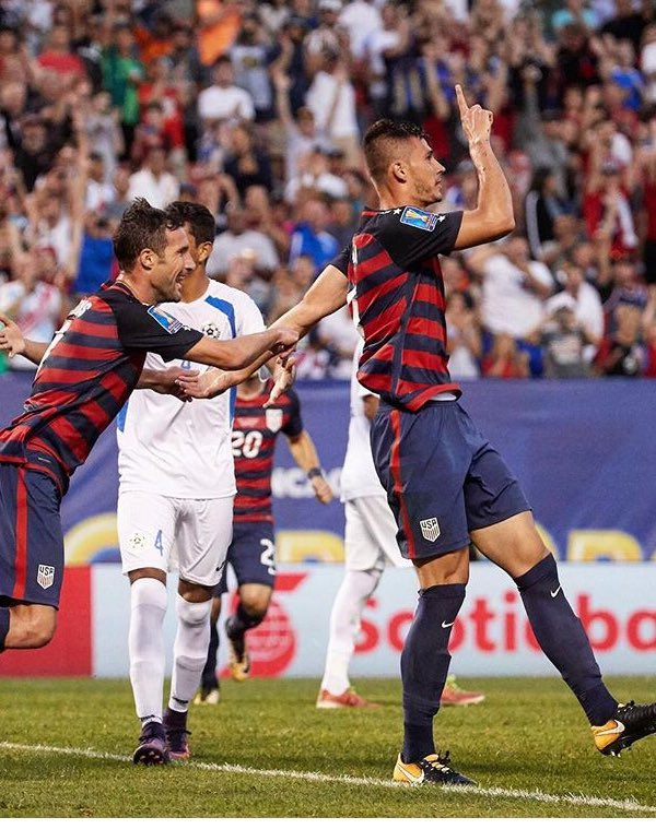 Happy to score my first international goal. All Glory to God Thanks for all the messages. #USMNT