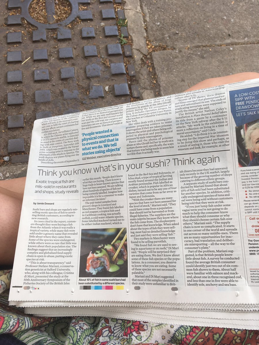 Reading the paper at Torquay station - nice work @TheMarianiLab ! @stefanako71 #sushi #FSBI17 <br>http://pic.twitter.com/mr5qsS0RVL