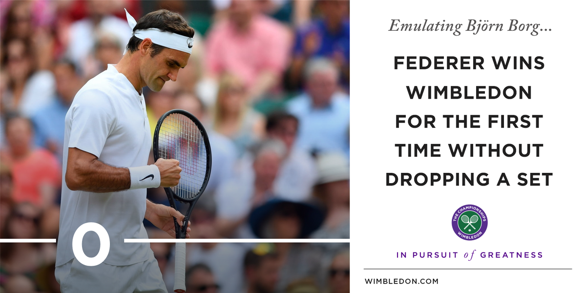 35 years of age. Still setting new standards for himself.  #Wimbledon