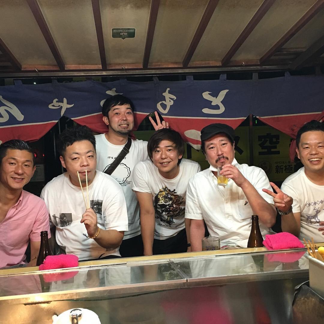 博多の居酒屋での笑い飯