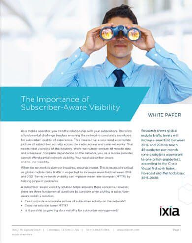The Importance of Subscriber-Aware #Visibility – 3 Questions to Answer  http:// hubs.ly/H083qs50  &nbsp;   #Ixiacom #VoLTE<br>http://pic.twitter.com/ZjkDaxgRzB