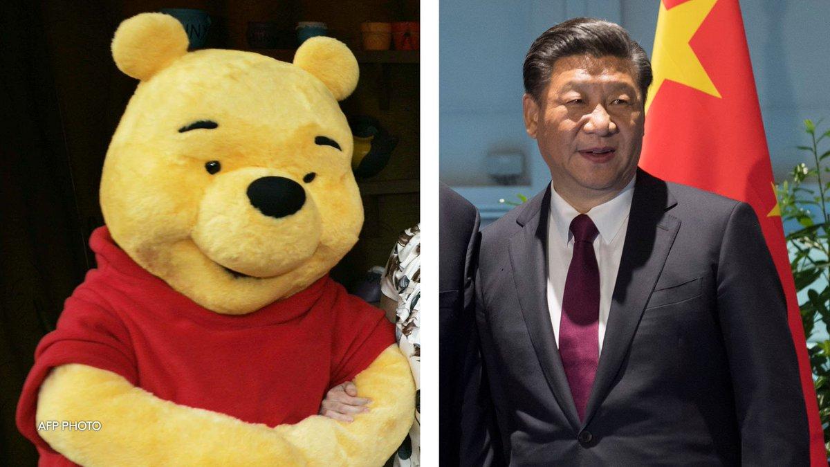 Winnie l'ourson censuré en Chine pour sa ressemblance avec le président Xi Jinping https://t.co/DYzme2DuyR