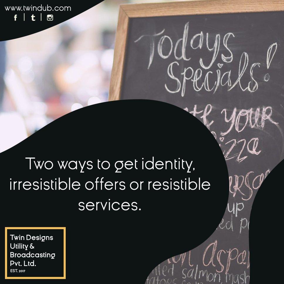 It is always irresistible offers or resistible #services. #socialmediamarketing #socialmediabranding #businessowner #startup #entrepreneur<br>http://pic.twitter.com/CMuru8WJkI
