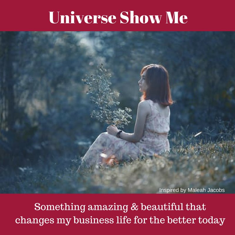 Universe, show me something amazing and beautiful that changes my business and life for the better today! #affirmation #business #visibility <br>http://pic.twitter.com/LVJ9kZMWAR