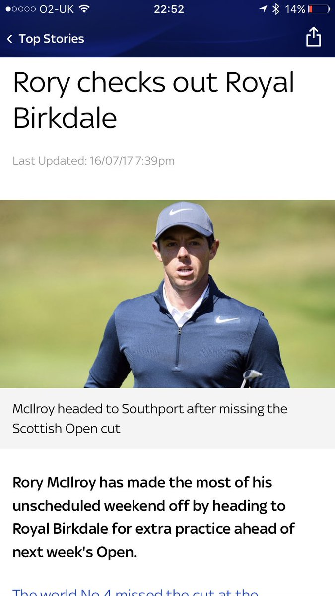 Getting his 3rd and 4th rounds in early, so he can take next weekend off again #TheOpen #Golf #RoryMcIlroy