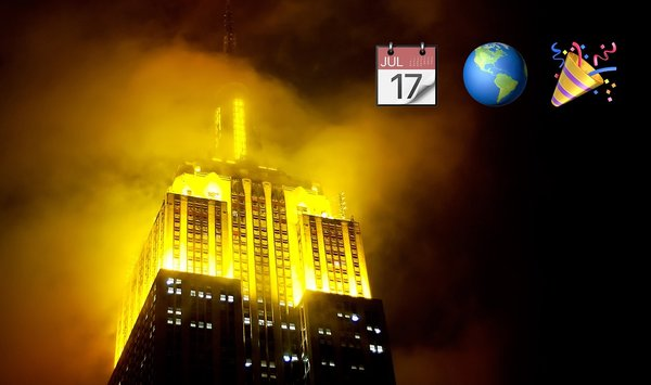 📷 Empire State Building lit yellow for #WorldEmojiDay July 17, 2017 https://t.co/LCmw74zIyr https://t.co/2wBrvW0pLr