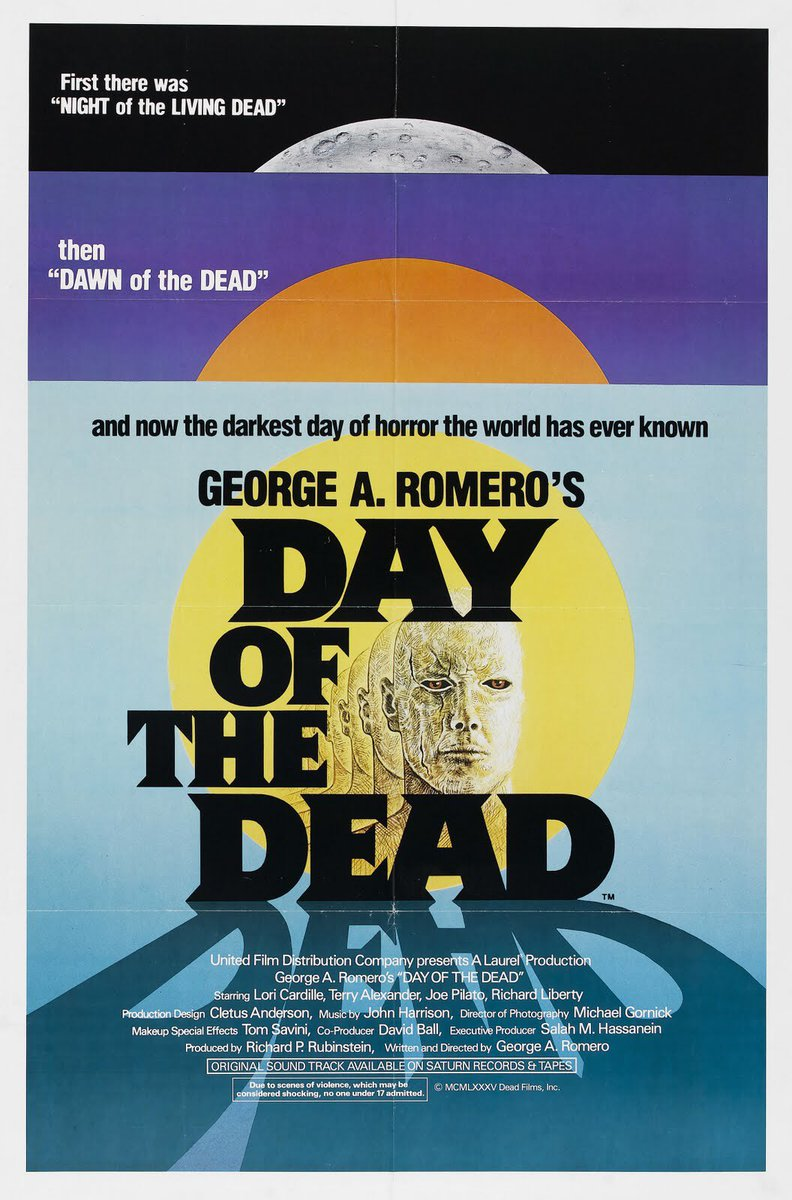 Now Playing: George A Romero's DAY OF THE DEAD. #RIPRomero https://t.co/g97zWcVFAs