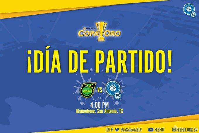 Copa Oro 2017: El Salvador vs Jamaica. Preparacion del juego. DE4DtO9VoAAoYCV