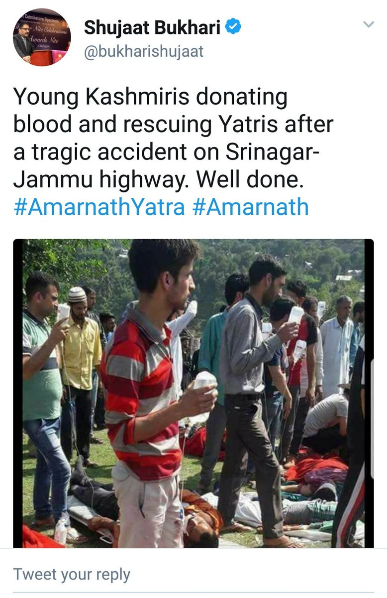 I have never seen blood travel 5 feet up to the bottle this way. Kashmiriyat must be gravity defying too. https://t.co/gK5XUIX6ds