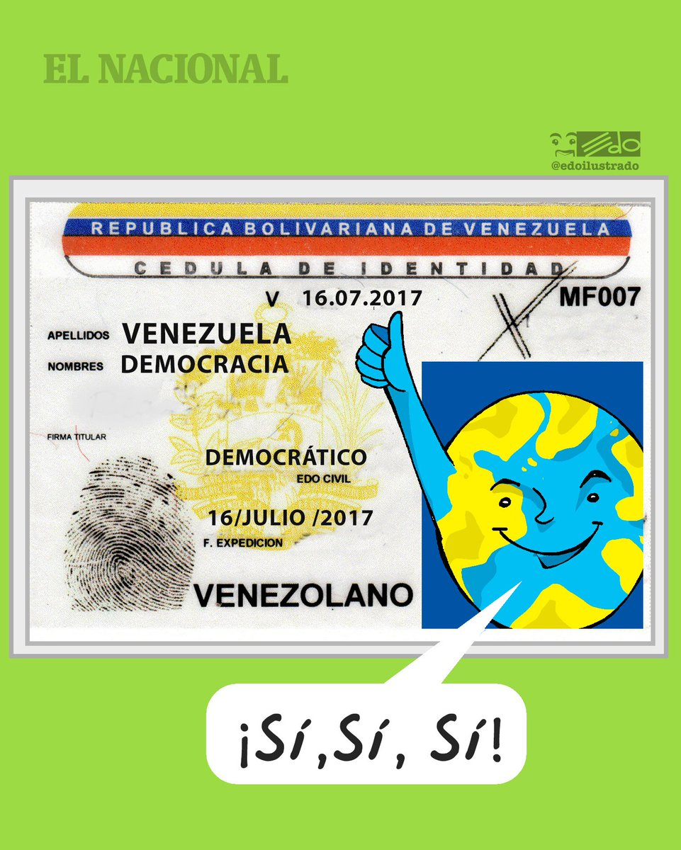 Caricatura EDO para @ElNacionalWeb #HoyElPuebloDecide