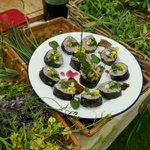 Our #Caerlaverock foraging walks on Saturday, with @markwildfood (and help fr @BUCK_AND_BIRCH). The wild sushi definitely a winner!