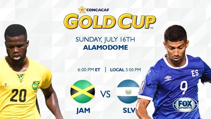 Copa Oro 2017: El Salvador vs Jamaica. Preparacion del juego. DE4imZ3XkAAjd64
