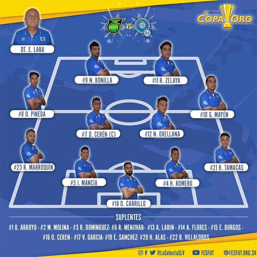 Copa Oro 2017: El Salvador vs Jamaica. Preparacion del juego. DE4r6KkUIAASk6r
